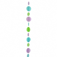 Balloon Tails - Teal Circles Balloon Tail (1.2m) 1pc